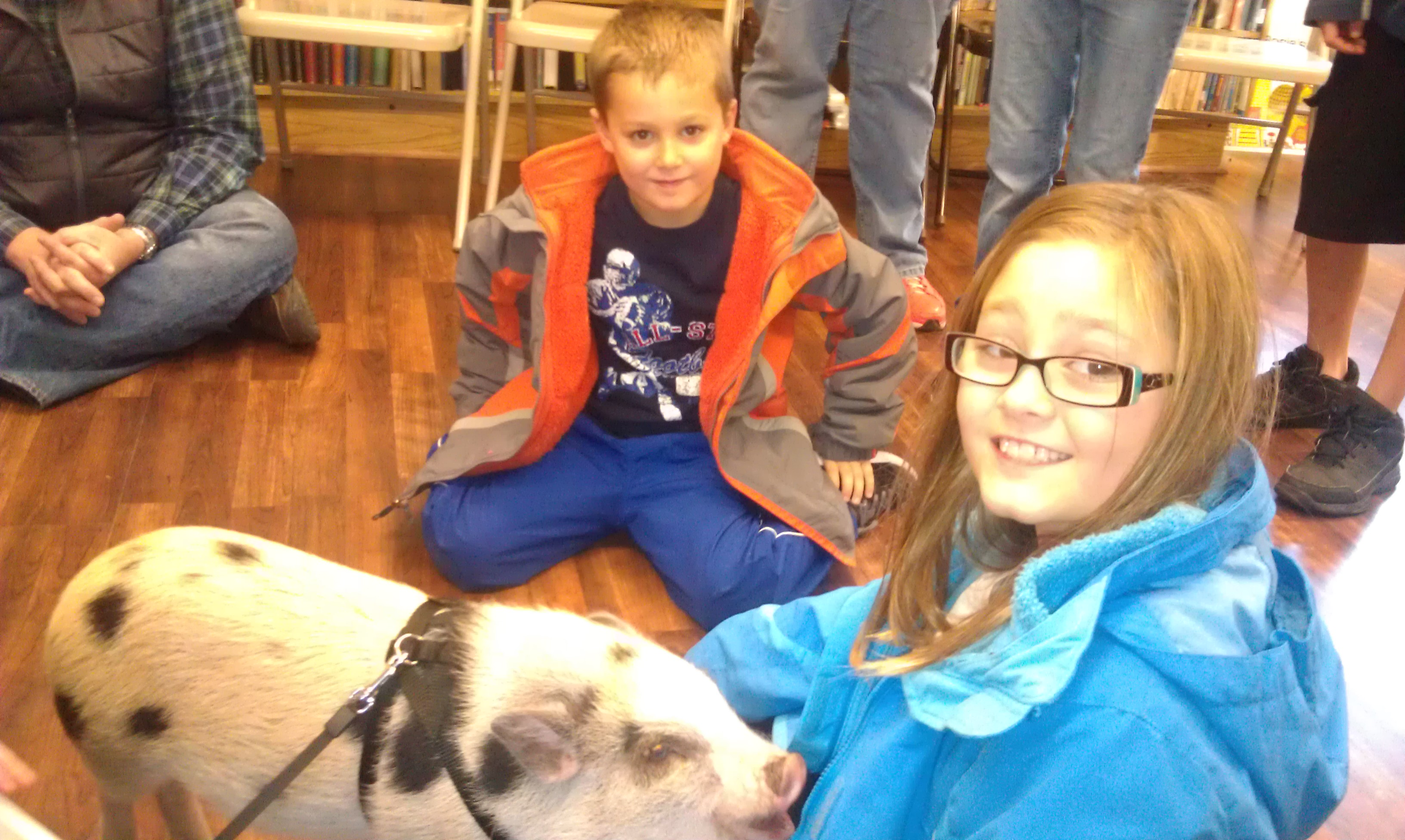 "Fun with ""Oliver"" the family Pet PIG!"