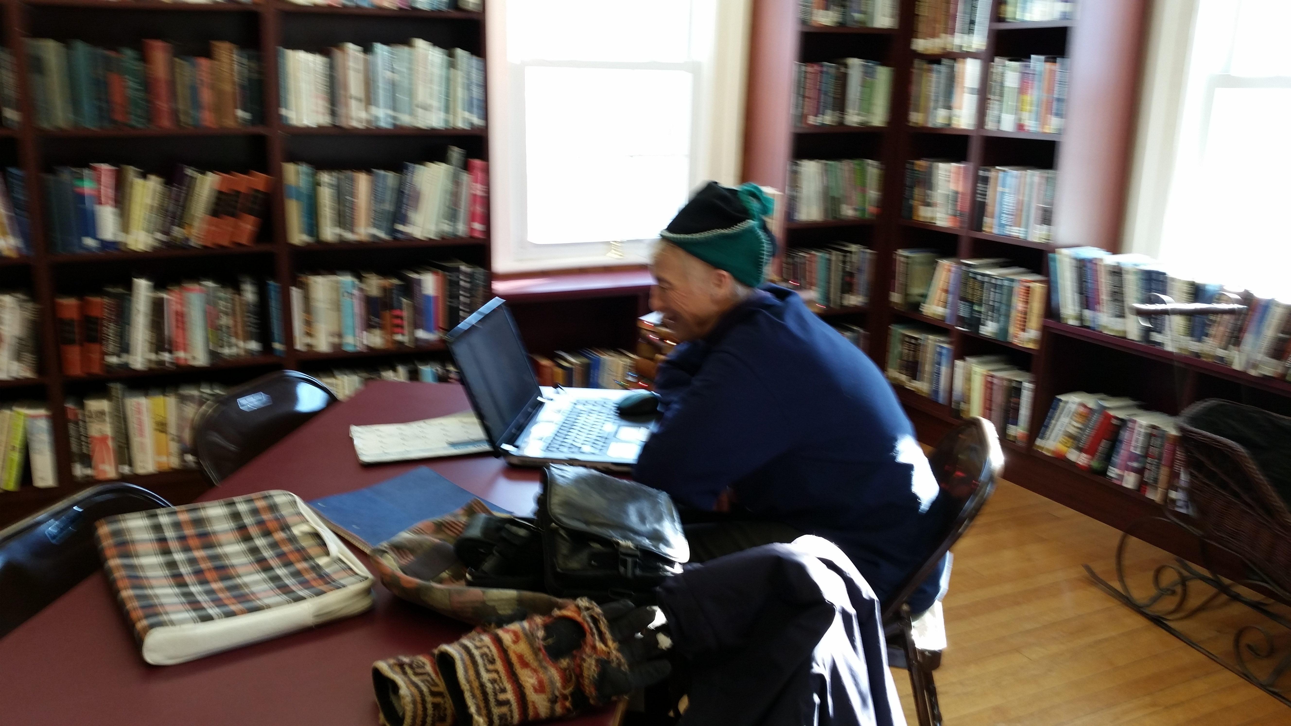 Frigid Temps don't stop library happenings!!